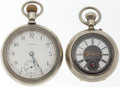 Timepieces:Pocket (post 1900), Elgin & Swiss Open Face Pocket Watches. ... (Total: 2 Items)