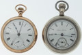 Timepieces:Pocket (post 1900), Hampden & Swiss 18 Size Pocket Watches Runners. ... (Total: 2 Items)