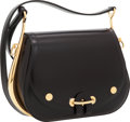 Luxury Accessories:Bags, Hermes Black Calf Box Leather Passe Guide Bag with Gold Hardware....