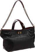 Luxury Accessories:Bags, Chanel Dark Gray Caviar Leather Tote Bag with Jumbo Chain ShoulderStrap. ...