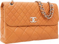 Luxury Accessories:Bags, Chanel Light Brown Quilted Lambskin Leather Jumbo Flap Bag withSilver Hardware. ...