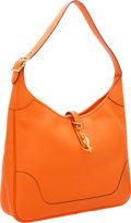 Luxury Accessories:Bags, Hermes 35cm Orange H Clemence Leather Trim II Bag with GoldHardware. ...