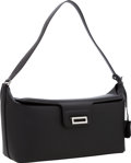 Luxury Accessories:Bags, Hermes Black Tadelakt Leather Miss II Shoulder Bag with Palladium Hardware. ...