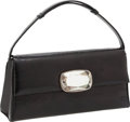 Luxury Accessories:Bags, Darby Scott Black Lizard Top Handle Bag with Mother of Pearl Detail. ...