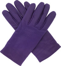 Hermes Iris Swift Leather & Cashmere Gloves