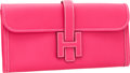 Luxury Accessories:Accessories, Hermes Rose Tyrien Epsom Leather Jige Elan H Clutch Bag. ...