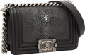 Luxury Accessories:Bags, Chanel Stingray & Black Lambskin Leather Boy Bag with BrushedSilver Hardware. ...
