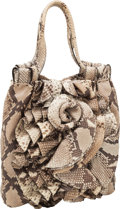 Luxury Accessories:Bags, Valentino Natural Python Shoulder Bag with Flower Detail. ...