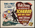 "Movie Posters:Animation, The Adventures of Ichabod and Mr. Toad (RKO, 1949). Half Sheet (22""X 28"") Style B. Animation.. ..."