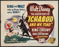 """The Adventures of Ichabod and Mr. Toad (RKO, 1949). Half Sheet (22"""" X 28"""") Style B. Animation"""