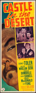 """Movie Posters:Mystery, Castle in the Desert (20th Century Fox, 1942). Insert (14"""" X 36"""").Mystery.. ..."""