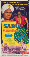 "Movie Posters:Adventure, Sabu and the Magic Ring (Allied Artists, 1957). Three Sheet (41"" X79""). Adventure.. ..."