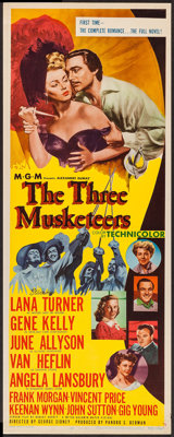 "The Three Musketeers (MGM, 1948). Insert (14"" X 36""). Swashbuckler"