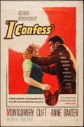 """Movie Posters:Hitchcock, I Confess (Warner Brothers, 1953). Poster (40"""" X 60"""") Style Y.Hitchcock.. ..."""