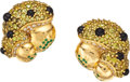 Estate Jewelry:Earrings, Diamond, Multi-Stone, Gold Earrings, C. Bonnetaud, French. ...