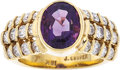 Estate Jewelry:Rings, Amethyst, Diamond, Gold Ring, Jeff Cooper. ...