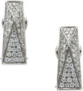 Estate Jewelry:Earrings, Diamond, White Gold Earrings, Versace. ...