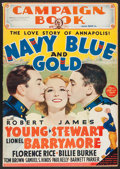 "Movie Posters:Drama, Navy Blue and Gold (MGM, 1937). Uncut Pressbook (Multiple Pages, 14"" X 20""). Drama.. ..."