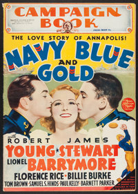 "Navy Blue and Gold (MGM, 1937). Uncut Pressbook (Multiple Pages, 14"" X 20""). Drama"