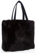 Art Glass:Daum, Prada Black Mink Shoulder Bag . ...
