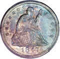 Seated Quarters, 1847-O 25C AU55 PCGS. CAC....