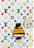 Luxury Accessories:Accessories, Louis Vuitton White Monogram Multicolor Canvas Chibi Kinoko Agenda....