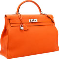Luxury Accessories:Bags, Hermes 40cm Orange H Togo Leather Retourne Kelly Bag with PalladiumHardware. ...