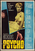 """Movie Posters:Hitchcock, Psycho (Paramount, 1960). Trimmed Poster (27"""" X 40""""). Hitchcock....."""