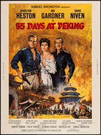 "55 Days at Peking (Allied Artists, 1963). Poster (30"" X 40""). Adventure"