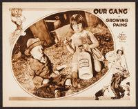 """Growing Pains (MGM, 1928). Lobby Card (11"""" X 14""""). Our Gang Comedy"""