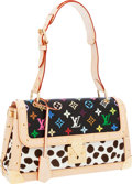 Luxury Accessories:Bags, Louis Vuitton 2004 Limited Edition Monogram Dalmatian by TakashiMurakami White Multicolor Sac Rabat Bag. ...