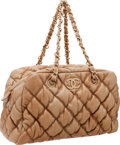 Luxury Accessories:Bags, Chanel Nude Leather Bubble Shoulder Bag with Brushed Gold Hardware....