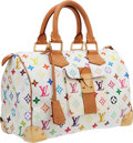 Luxury Accessories:Bags, Louis Vuitton White Monogram Multicolore Canvas Speedy 30 Bag. ...