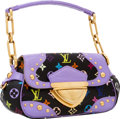 Luxury Accessories:Bags, Louis Vuitton Black Monogram Multicolore & Lavender CrocodileMarilyn Bag. ...