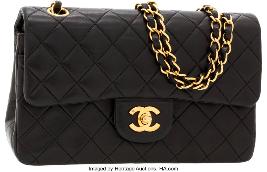 83bd218f27b5 ... Luxury Accessories:Bags, Chanel Black Quilted Lambskin Leather Small  Double Flap Bag withGold Hardware ...