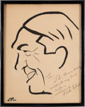 Movie/TV Memorabilia:Original Art, A Victor McLaglen Caricature by Vitch from The Brown Derby Restaurant, Circa 1930s....