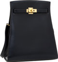 Luxury Accessories:Bags, Hermes 20cm Indigo Calf Box Leather Kelly Sport Bag with GoldHardware. ...