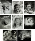 Movie/TV Memorabilia:Photos, A Marilyn Monroe Group of 'Clouds' Black and White Photographs by Andre de Dienes, 1945, 1980s.... (Total: 8 Items)