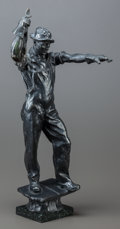 Fine Art - Sculpture, American:Modern (1900 - 1949), MAX KALISH (American, 1891-1945). The Structural SteelWorker, 1926. Bronze with brown patina. 18-3/4 inches (47.6 cm)h...