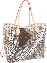 Louis Vuitton Limited Edition Infinity Dots by Yayoi Kusama White Dot Monogram Canvas Neverfull MM Tote Bag