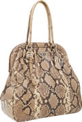 Luxury Accessories:Bags, Prada Natural Python Large Bowling Bag. ...