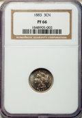 Proof Three Cent Nickels: , 1883 3CN PR66 NGC. NGC Census: (289/85). PCGS Population (351/67).Mintage: 6,609. Numismedia Wsl. Price for problem free N...