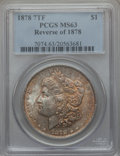 Morgan Dollars, (3)1878 7TF $1 Reverse of 1878, VAM-121 MS63 PCGS. Mintage:4,900,000. . From The Parcfeld Collection.... (Total: 3coins)