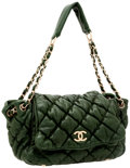 Luxury Accessories:Bags, Chanel Green Lambskin Leather Bubble Flap Shoulder Bag. ...