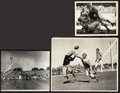 Football Collectibles:Photos, 1940's Green Bay Packers Oversized Original Photographs Lot of3....
