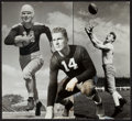 Football Collectibles:Photos, 1930's-40's Don Hutson Original Photograph Collage - From Days With Packers and Alabama....