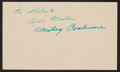 Baseball Collectibles:Others, 1950 Mickey Cochrane Signed Government Postcard....