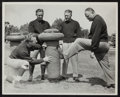 Football Collectibles:Photos, 1940's Don Hutson, Bo Molenda, Curly Lambeau and Walt KieslingOriginal Oversized Photograph - Green Bay Packers Greats....