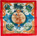 "Luxury Accessories:Accessories, Hermes Red, Blue & Green ""Au dela des Cinq Mers,"" by LaurenceBourthoumieux Silk Scarf. ..."