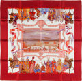 "Luxury Accessories:Accessories, Hermes Red, White & Blue ""Turqueries en l""Honneur de Mr. deT.,"" by J.C Donnadieu Silk Scarf . ..."